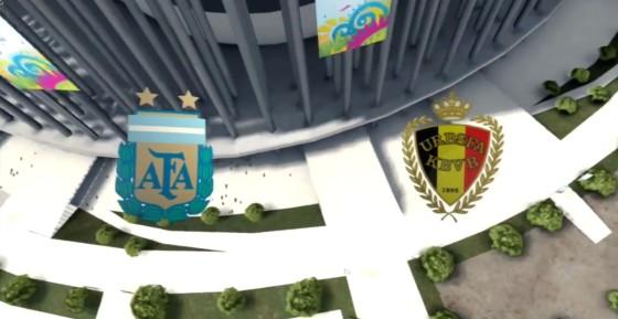 FIFA WM 14 – Argentinien vs. Belgien