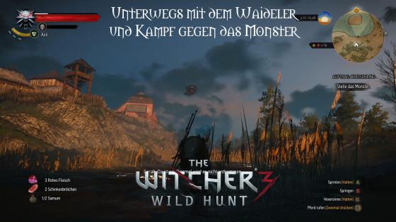 Witcher 3: Wild Hunt – #27 – Unterwegs mit dem Waideler und Kampf gegen das Monster
