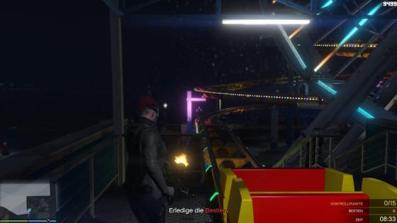 GTA V Online – #123 – Mit der Minigun in der Achterbahn!