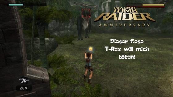 Tomb Raider Anniversary- #4 – Der fiese T-Rex will mich töten!