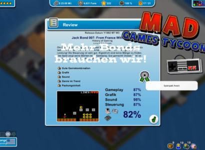 Mad Games Tycoon – #11 – Mehr Bonds braucht das Land!