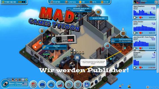 Mad Games Tycoon – #6 – Wir werden Publisher!