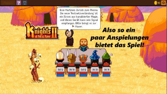 Knights of Pen and Paper 2 – #9 – Also so ein paar Anspielungen bietet das Spiel!