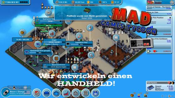 Mad Games Tycoon – #15 – Wir entwickeln einen HANDHELD!