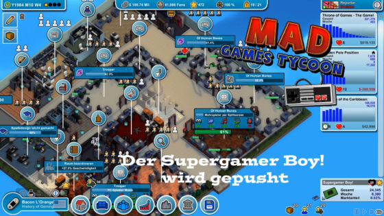 Mad Games Tycoon – #16 – Der Supergamer Boy! wird gepusht!