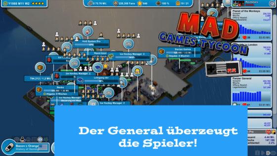 Mad Games Tycoon – #32 – Der General überzeugt die Spieler!