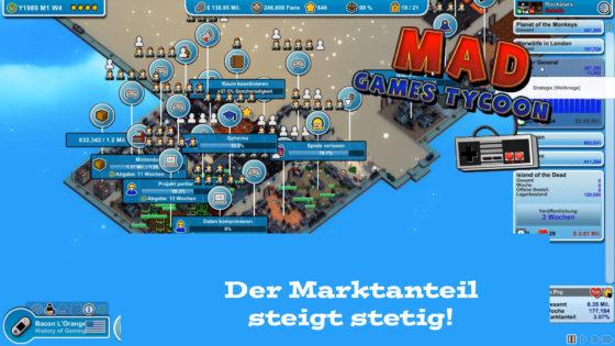 Mad Games Tycoon – #33 – Der Marktanteil steigt stetig!