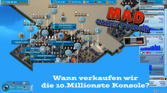 Mad Games Tycoon – #35 – Wann verkaufen wir 10.Mill. Konsole?