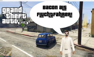 GTA V (Grand Theft Auto) – #315 – Bacon als Fluchtfahrer!