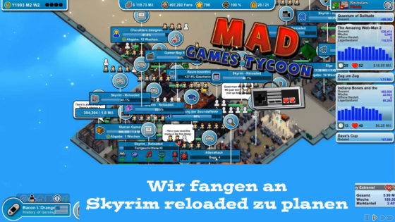 Mad Games Tycoon – #50 – Wir fangen an Skyrim reloaded zu planen