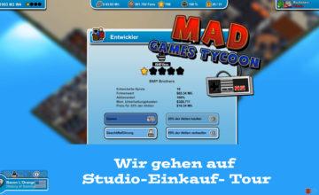 Mad Games Tycoon – #51 – Wir gehen auf Studio-Einkauf-Tour