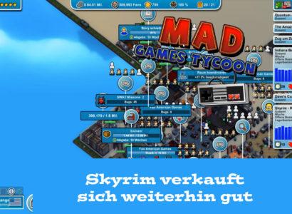 Mad Games Tycoon – #52 – Skyrim verkauft sich weiterhin gut