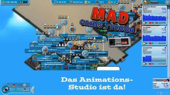 Mad Games Tycoon – #42 – Das Animations-Studio ist da!