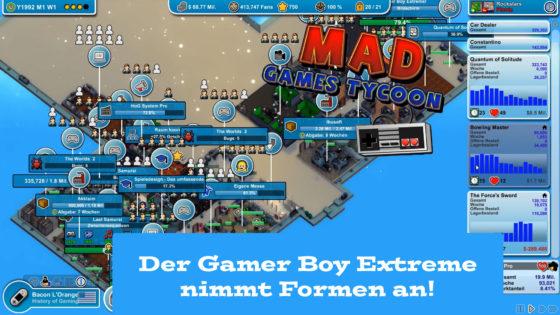 Mad Games Tycoon – #45 – Der Gamer Boy Extreme nimmt Formen an