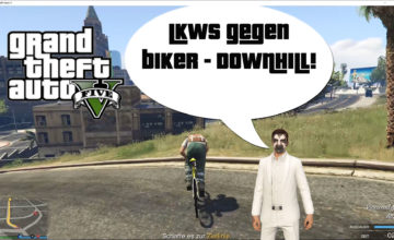 GTA V (Grand Theft Auto) – #318 – LKWs gegen Biker Downhill!