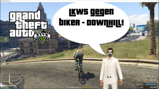 GTA V (Grand Theft Auto) – #318 – LKWs gegen Biker Downhill!