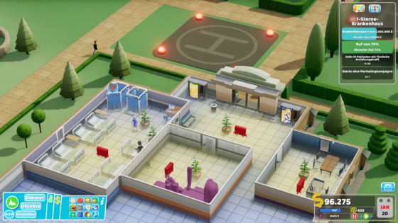Two Point Hospital ? 17 – Kanone und Marketing!