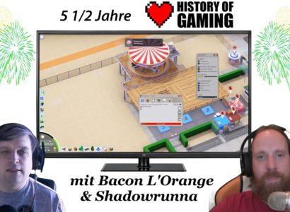 """5 1/2 Jahre """"History of Gaming"""" [FACECAM] – Rückblick auf 5 1/2 Jahre Spiel und Spaß!"""
