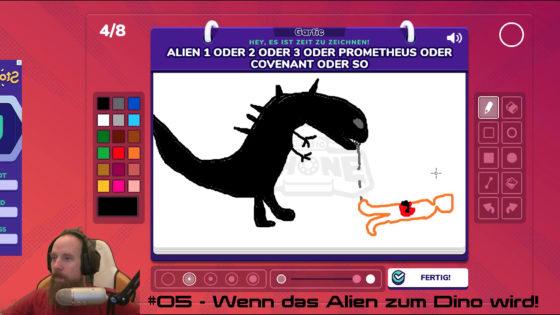 Gartic Phone 🖌 #05 – Wenn das Alien zum Dino wird!
